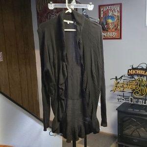 Long sleeve black cardigan sweater